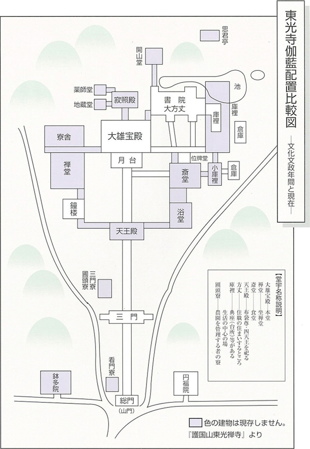 東光寺伽藍配置比較図